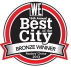 The West Ender 2013 Best of the City - Bronze Winner