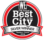 The West Ender 2014 Best of the City - Silver Winner